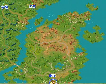 浙江地图可前往达安徽和江苏. 江西地图可前往湖南.