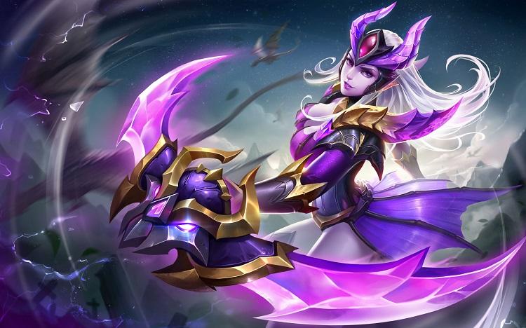【新皮肤】暗精灵-月夜紫影