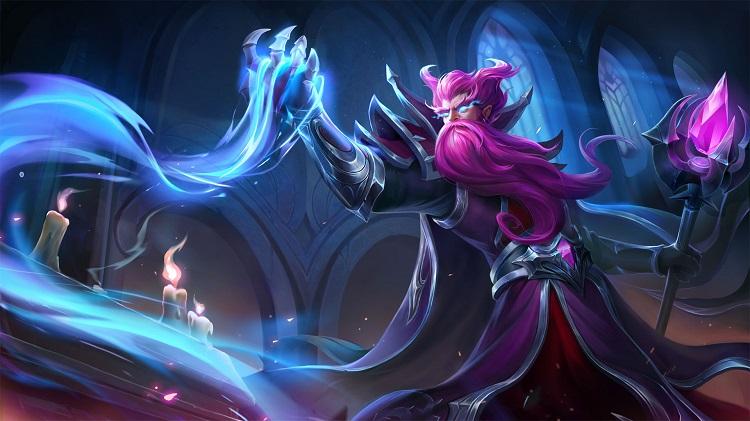 【新皮肤】白袍巫师-紫灵巫师