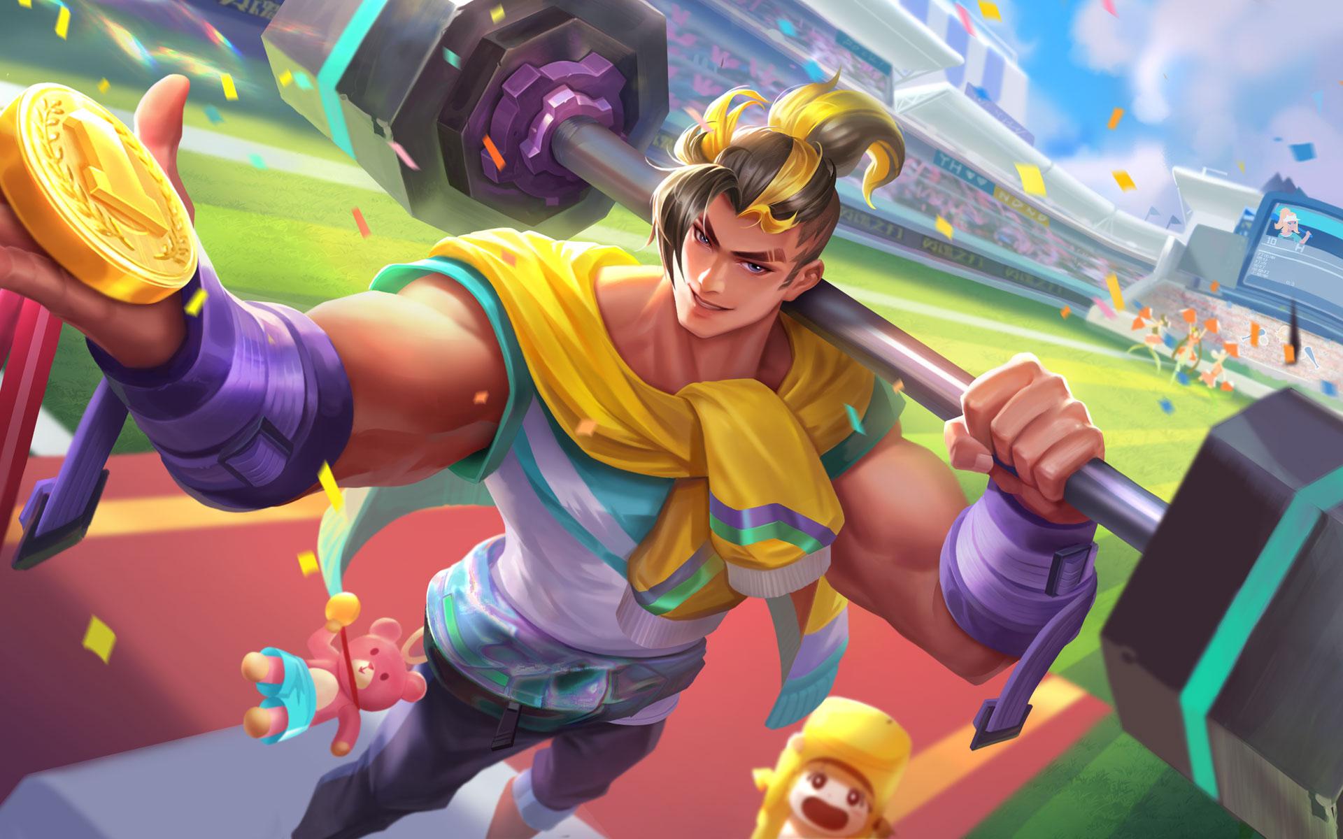 【新皮肤】泰坦巨人-举重冠军