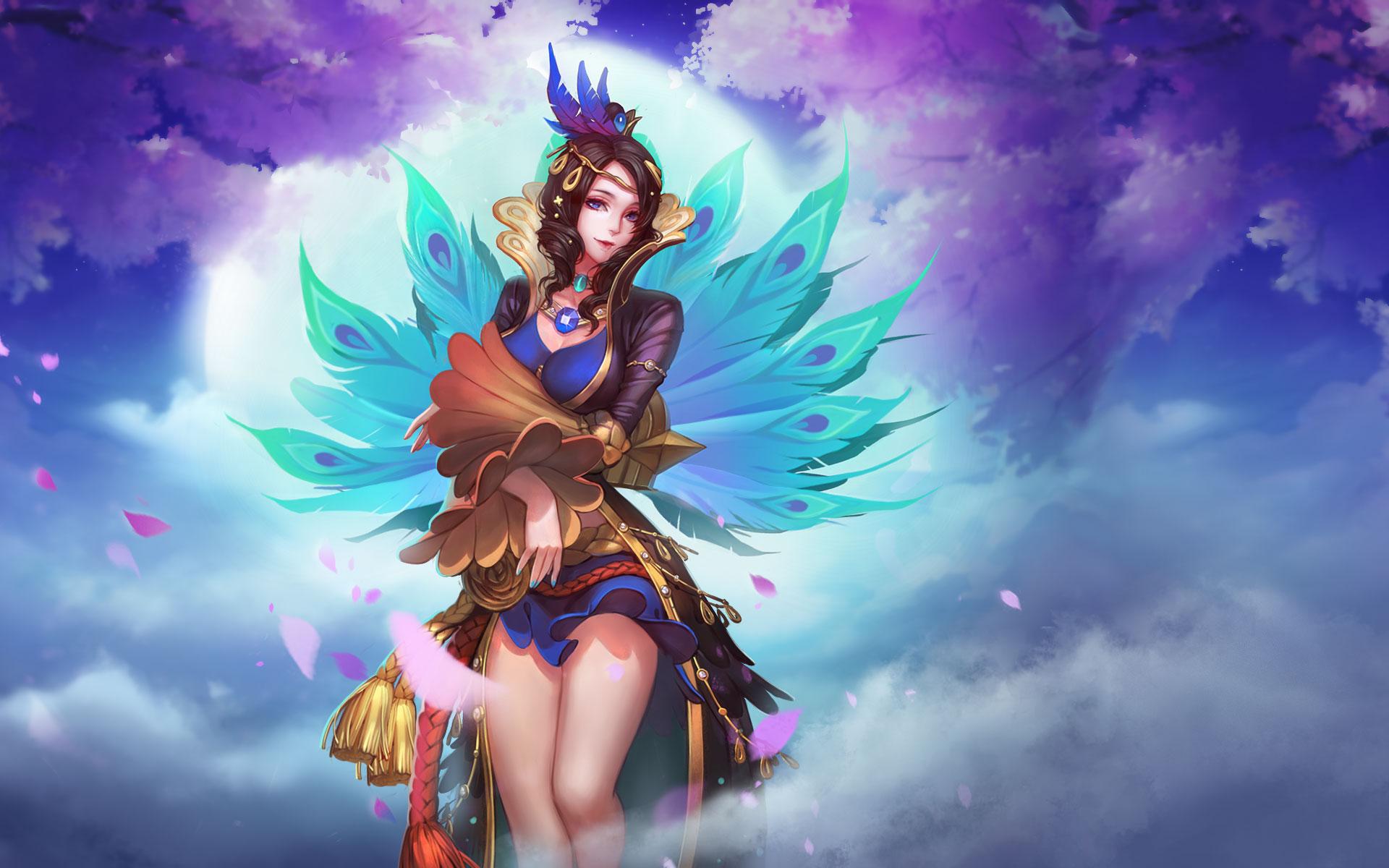 【新皮肤】洛神-飞羽女王